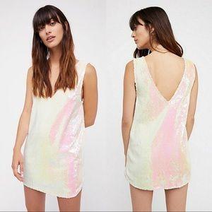 Intimately FP Iridescent Sequin Tunic Tank Dress